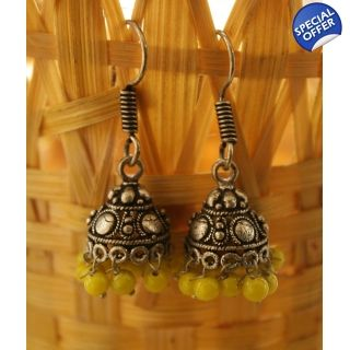 pair of beautiful brass metal Jhumkas (Temple Art Earrings) which will suit to the personality of the women who follows the trend and style. Buy only @ INR 220