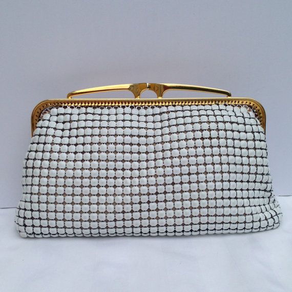 Vintage 1960s / 1970s white Glomesh purse by Justwhatawomanneeds, $30.00