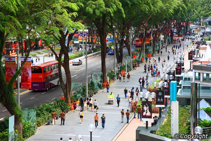 Landscape Architecture. Signage. Public Open space. Orchard Road - Singapore. Celebrating retail experience. Incredible size of the trees. Nature art. Beautiful space!