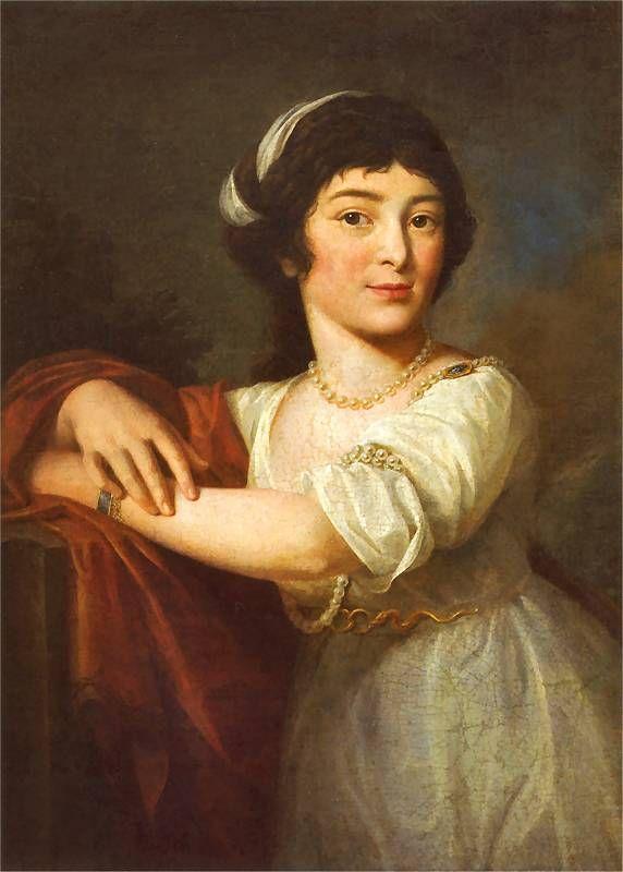 J. Pitschmann Portret Joanny Dzierzbickiej Ok. 1800. Olej na płótnie. 72,5 x 52 cm. Muzeum Narodowe w Krakowie - Sukiennice. Portrait of Joana Dzierzbicka, 1800, Cracow, Poland