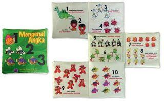 Judul: Mengenal Angka. Ukuran tertutup : 17 x 17 cm Halaman: 6 hal isi + 2 hal sampul  Buku kain yang berisi tentang angka dengan gambar animasi yang menarik. Cocok untuk mengajari anak anda berhitung. Jangan khawatir kotor, karena softbook ini bisa dicuci.