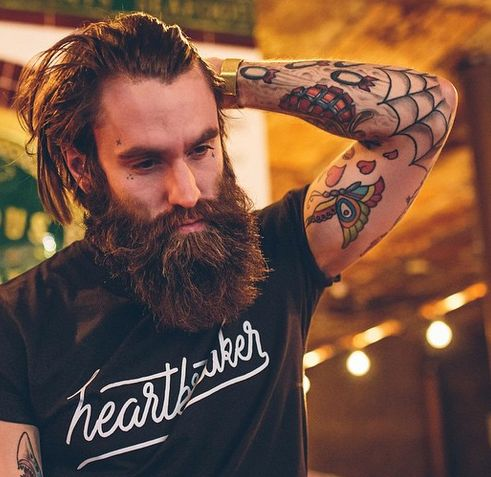 Top 10 Male Models with Tattoos and Beards