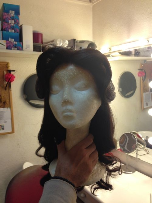 Our amazing wig makers have just finished creating our Belle wig! Isn't it beautiful? #wigs #theatre #princess #princesswig #princesspartylondon #princessbirthday #princessdressup