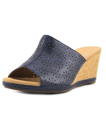 221a42b8768 CLARKS CLARKS HELIO CORRIDOR WOMEN US 8 BLUE WEDGE SANDAL.  clarks  shoes
