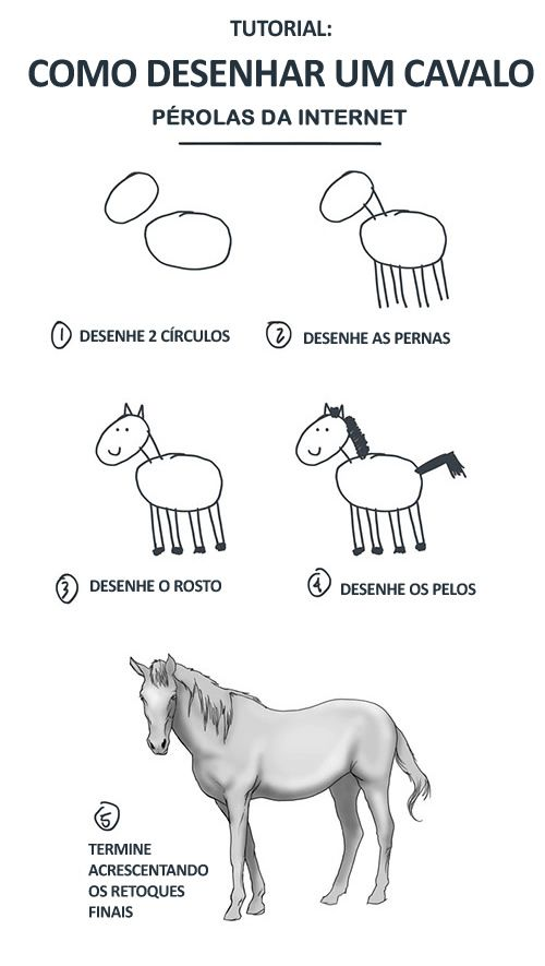 TUTORIAL: Como desenhar um cavalo Kkkkkkkk