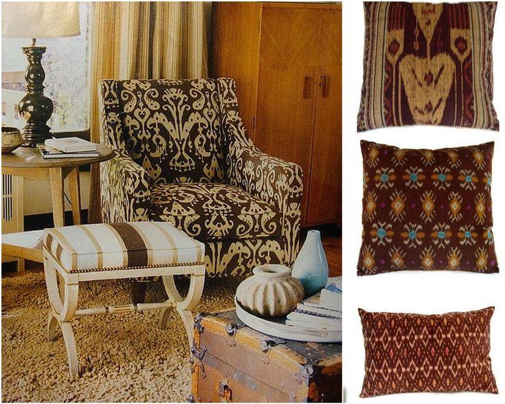 """Суперактуальный тренд – техника """"икат"""" для мебельной обивки в стильном интерьере вашего жилища"""