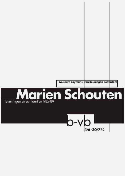 Museum Boymans-van Beuningen Rotterdam, exhibition poster, 1989. From 8vo On the Outside, Lars Müller, 2005