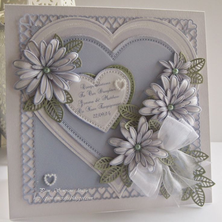 pamscrafts: Granddaughters Engagement card 1..
