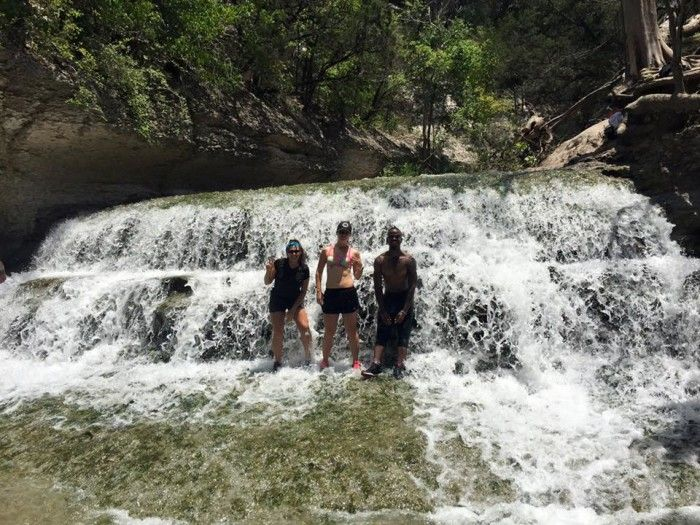 7) Chalk Ridge Falls Park (Belton) At this wonderful hidden treasure of a park in the hill country, you will find five miles of hiking trails, a hidden cave, a suspension bridge, and the crown jewel of the park, the falls, pictured above.