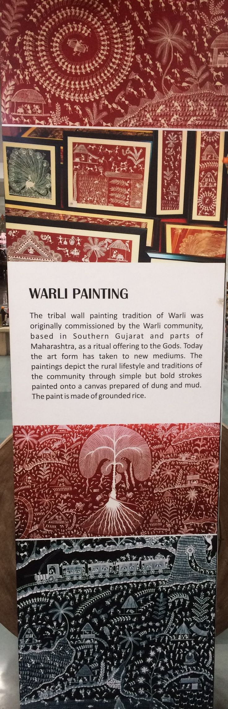 The Warli people are famous for their beautiful and unique style of painting. Warli painting, India's global art proudly tribal art. We are sharing authentic and real information about warli art. smile emoticon Call us on +91 79 2687 2664/65/66 Follow us on the bellow links : https://twitter.com/Craftrootsinfo https://instagram.com/craftroots/