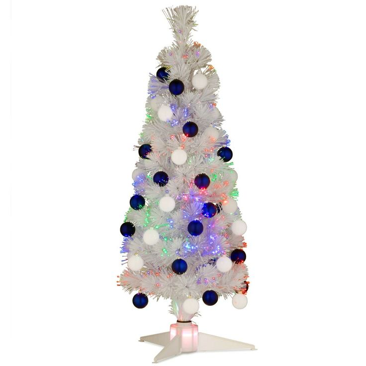 95 Best Tabletop Artificial Christmas Trees Images On Pinterest  - 36 Fiber Optic Christmas Tree