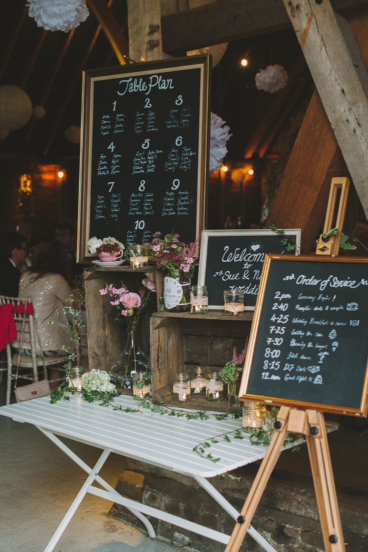 Chalkboard Frames with Tableplan & Order of the Day