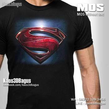 Kaos SUPERMAN, Kaos MAN OF STEEL, Kaos LOGO SUPERMAN, Kaos SUPERHERO, Kaos 3D, Kaos 3D Bagus, http://www.facebook.com/kaos3dbagus, WA : 08222 128 3456, LINE : kaos3dbagus