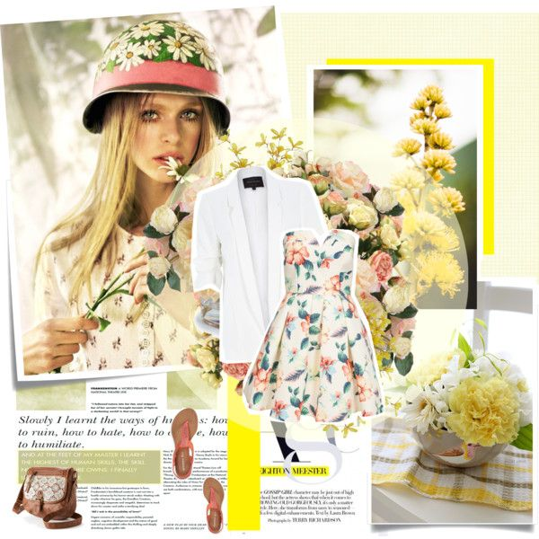 Floral <3 by nina1596 on Polyvore featuring AX Paris, River Island, Aéropostale, Mudd, New Growth Designs, Distinctive Designs and Pier 1 Imports