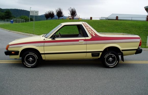 1982 Subaru Brat DL. Needs bigger tires but that is the paint scheme of the century.