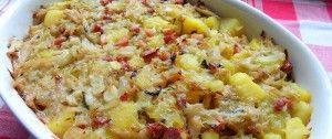 Weißkohl-Kartoffelauflauf