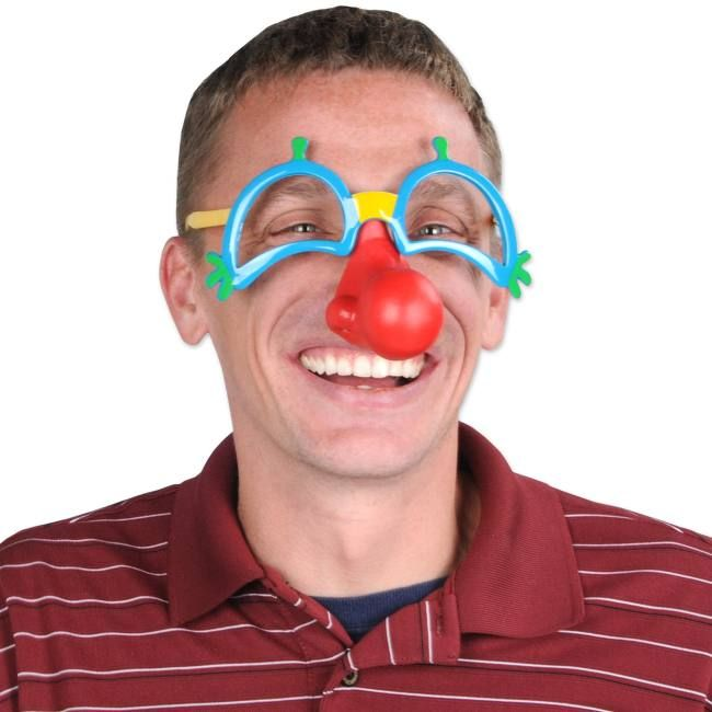 Clown Glasses W Nose Clown Clothes Carnival Themed Party Clown