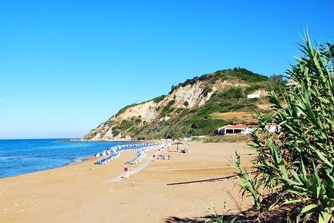 Santa Barbara beech-Korfu. Calm sandy beech and cristal water. Beautiful
