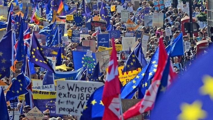 Thousands take to streets in anti-Brexit London march