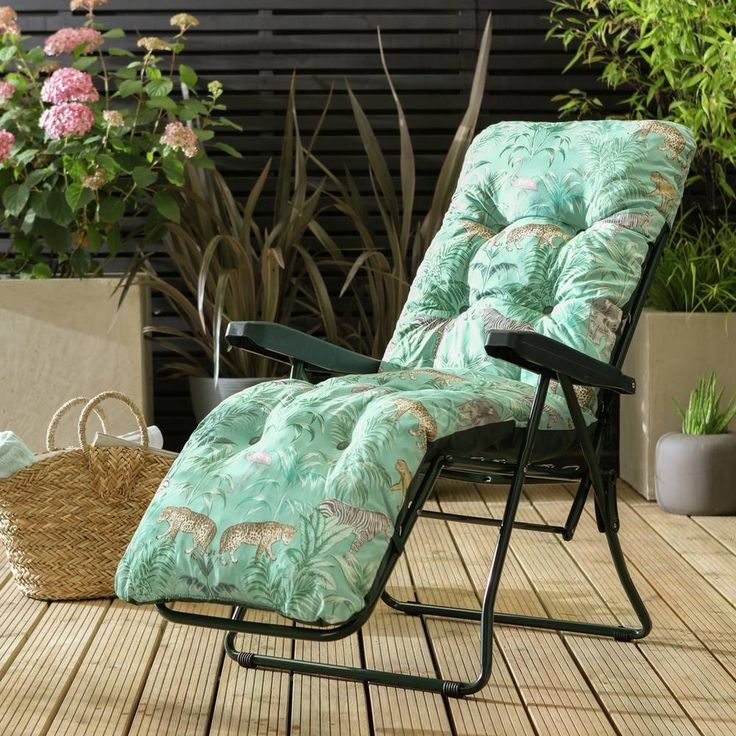 Buy Argos Home Metal Folding Sun Lounger Wilderness