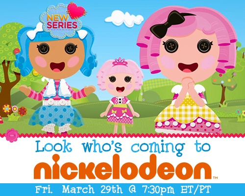 Pin this to your Calendar! Lalaloopsy TV show premieres on Friday, March 29th at 7:30 PM. On Nickelodeon! #LalaOnNick #Lalaloopsy #Nickelodeon