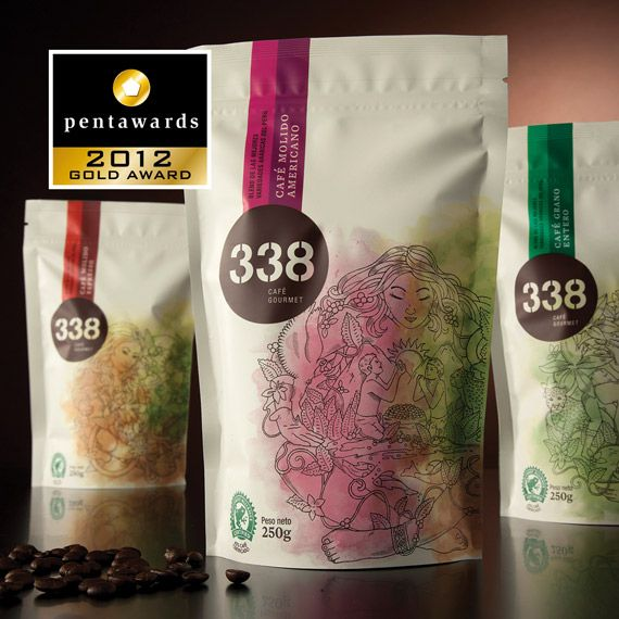 Gold Pentaward 2012  Beverages –  Coffee & tea (dry and capsules)    Brand: 338    Entrant: Infinito    Country: PERU    www.infinito.pe
