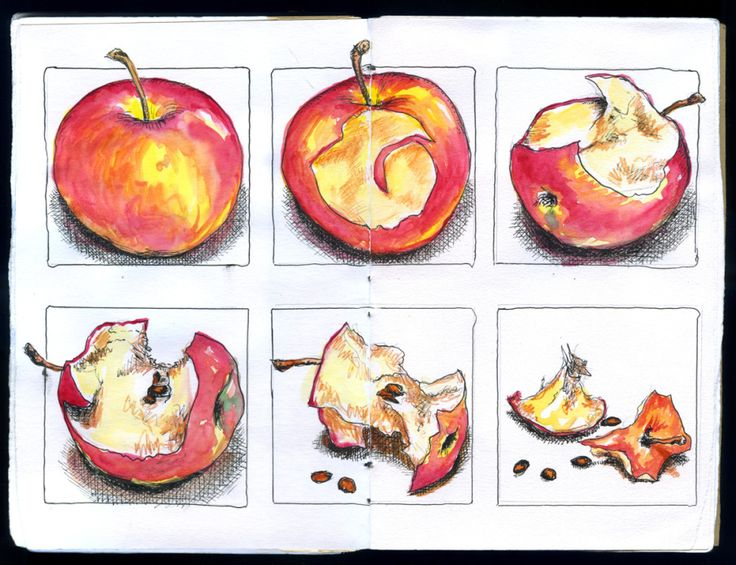 process - process of time decay of an apple over a period of time