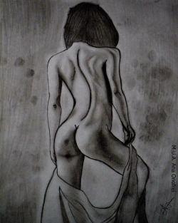 #pic #picture #drawing #pencil #pencildrawing #girl #nudegirl #nude #byme #art #pencilart #naked #nakedgirl #hair