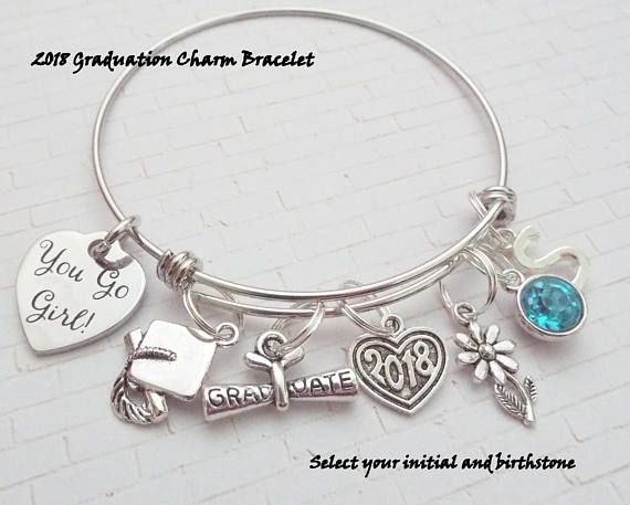 This personalized gift for the 2018 graduate was created and hand crafted with great care and pride in our craft. All of our items, including this personalized class of 2018 charm bracelet, are special handmade creations that are original Hope is Hip designs. Our personalized
