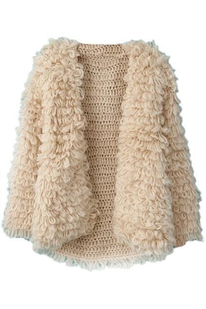 textured winter coat | loop fur stitch