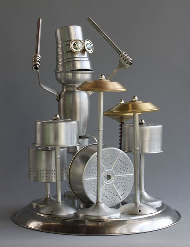 25 Scrap Material Sculptures by Brain Marshall - The worlds first robot orphanage. Follow us www.pinterest.com/webneel