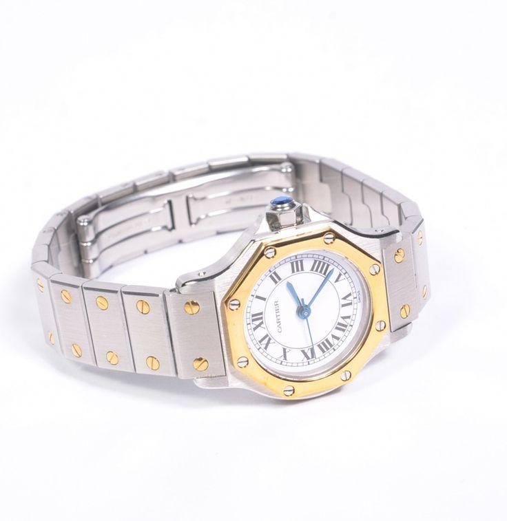 Women's 18K Gold Cartier Santos Watch