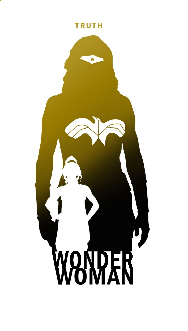 Superhero silhouettes and attributes by Steve Garcia: Wonder Woman.