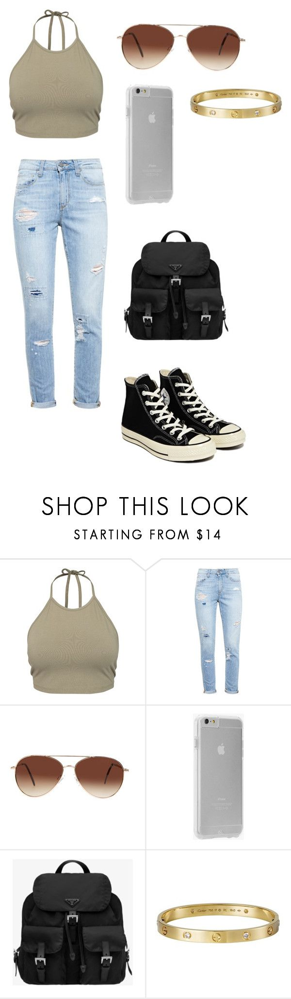 """""""Madison Beer Style #3"""" by taejin-seokhyung ❤ liked on Polyvore featuring NLY Trend, Paige Denim, Eloquii, Case-Mate, Prada, Cartier, Converse, women's clothing, women's fashion and women"""