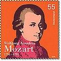 German Deutsche Post Mozart stamp