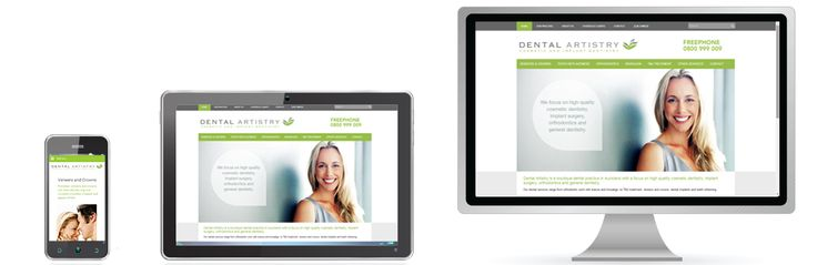 Best in class mobile responsibe website design for dentists.