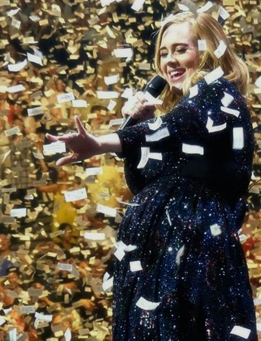 Adele - paper notes confetti.