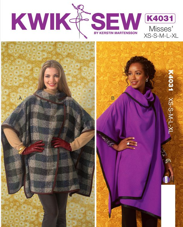 Kwik Sew 4031 Misses' Wraps http://kwiksew.mccall.com/k4031-products-47759.php?page_id=3044