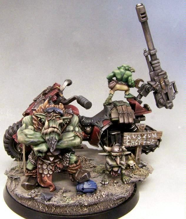 Conversion, Diorama, Grots, Ork Bike, Orks, Warhammer 40,000
