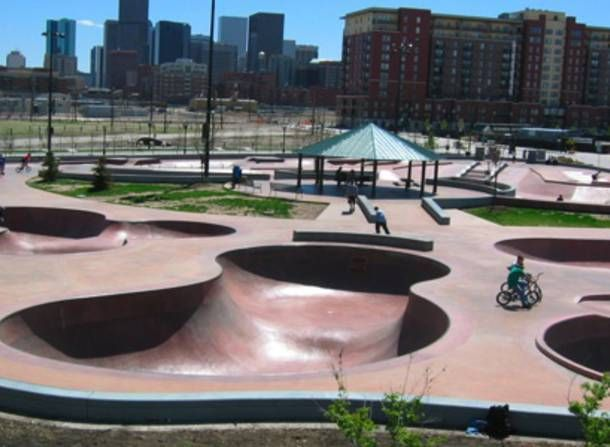 Denver Skatepark Address:  20th St. & Little Raven St., Denver, CO 80202 Hours:  Hours vary. See website for more details. Website:  www.denvergov.org/parks