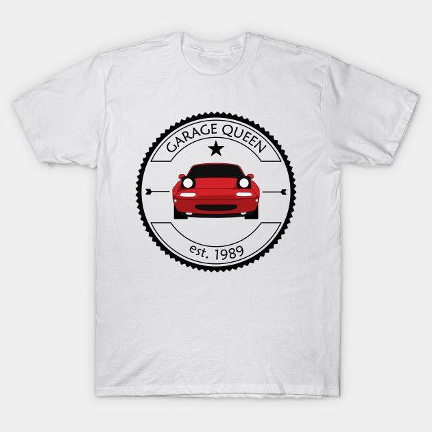[Cars T-shirt] Mazda MX-5 / Miata NA Garage Queen Red