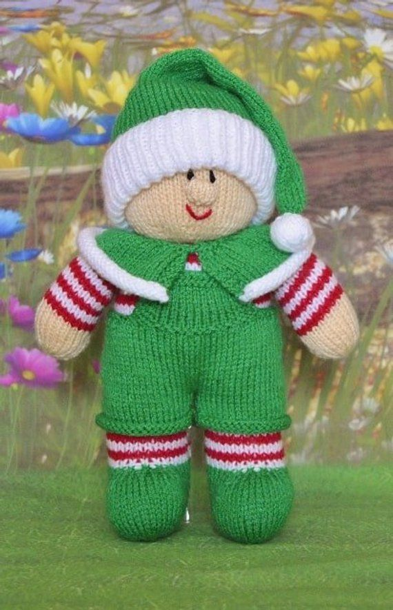 7eb17e10d8f7 TOY KNITTING PATTERN - DungarElf Knitting Pattern Download From Knitting by  Post. Pdf download by KnittingByPost