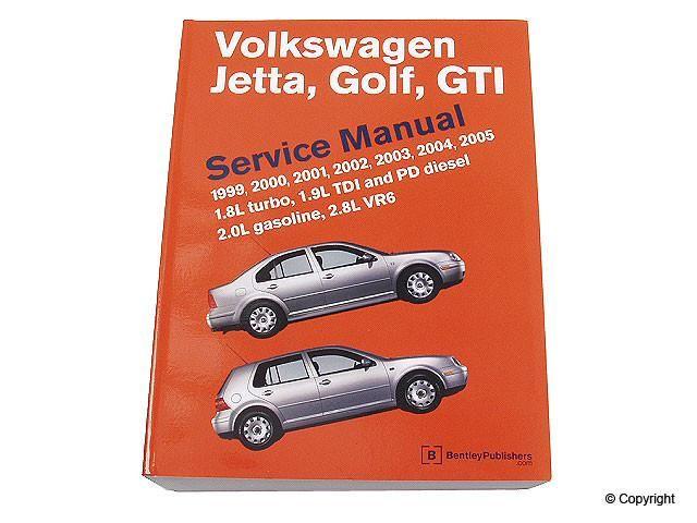Bentley Repair Manual VW Mk4 Golf/Jetta 1999-2005 all