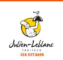 Julien-Leblanc Traiteur Montréal, c'est une aventure savoureuse qui se partage avec des clients, des collègues ou des amis: le plaisir croît avec le nombre. Qu'il s'agisse de buffet chaud ou froid, cockt