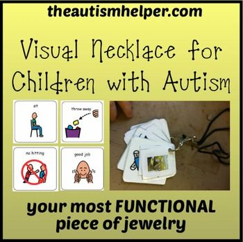 ... your most functional piece of jewelry!Children with autism struggle with receptive language and often don't understand what is being asked of them. Imagine if someone told you to sit down in Chinese - you would have no idea what you were being told to do!