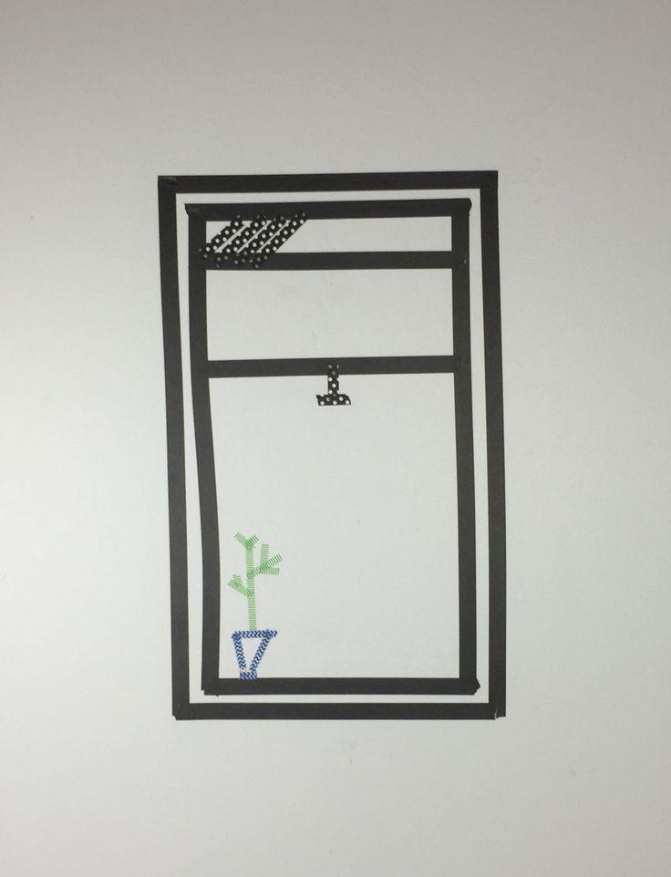 Dorm Wall Art: Washi Tape Windows