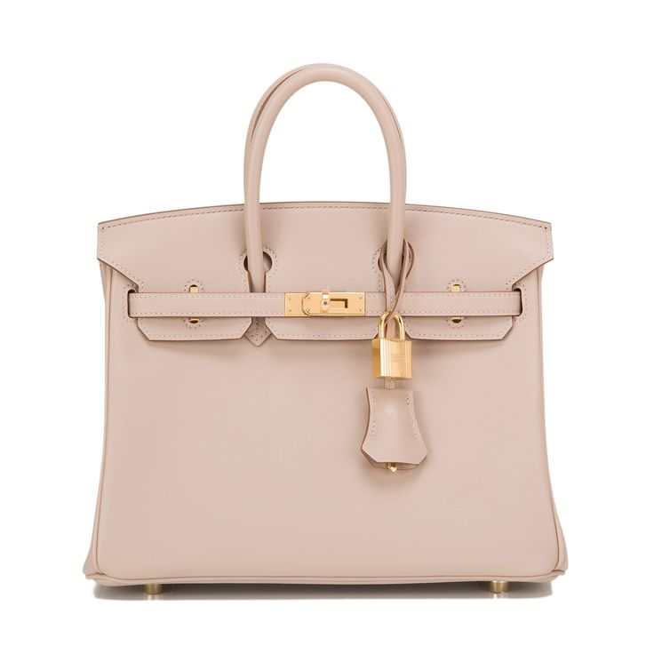 Hermes Birkin Bag 25cm Argile Swift Gold Hardware | World's Best
