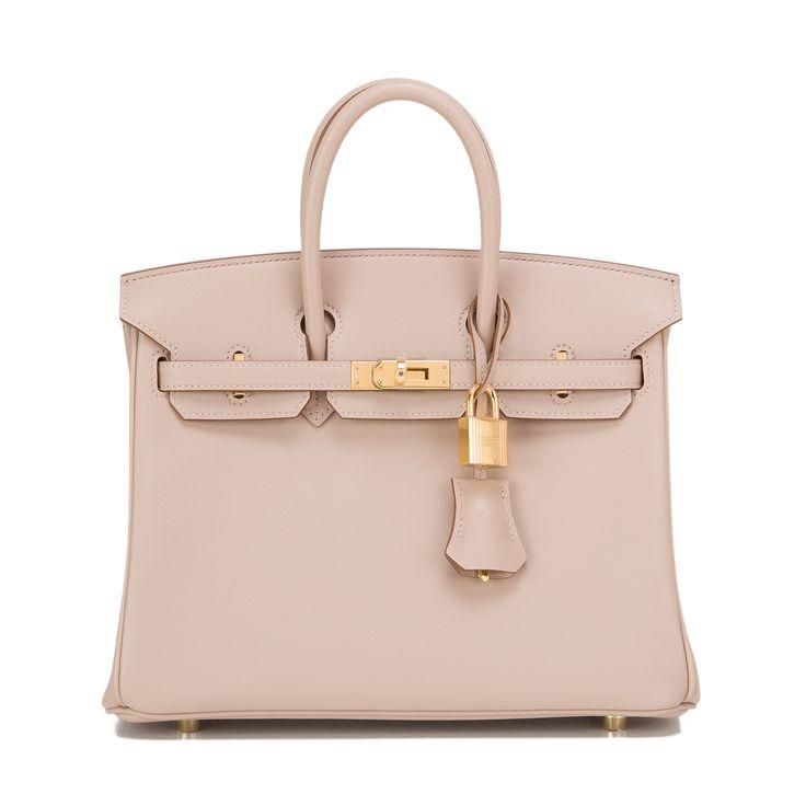 Hermes Birkin Bag 25cm Argile Swift Gold Hardware   World's Best