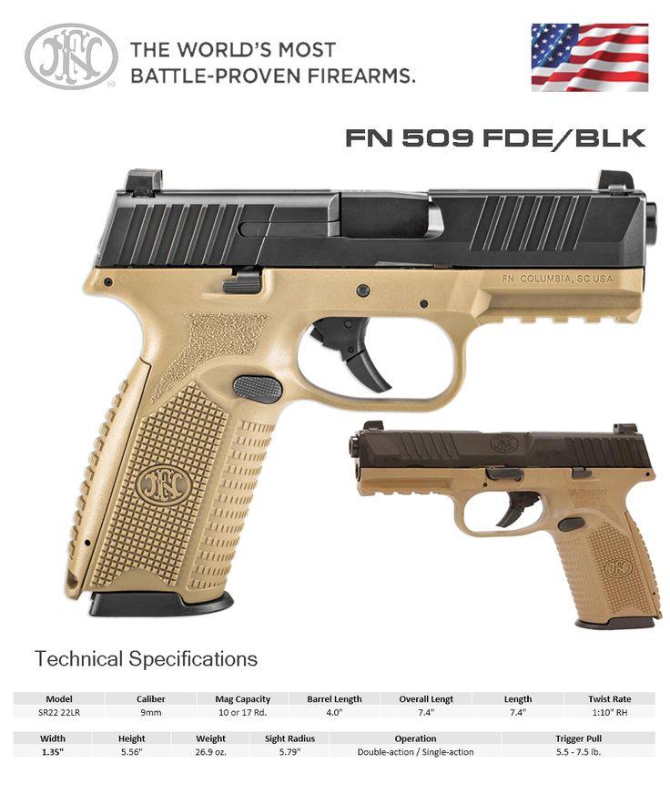 FN America - FN 509 FDE/BLKSave those thumbs & bucks w ...
