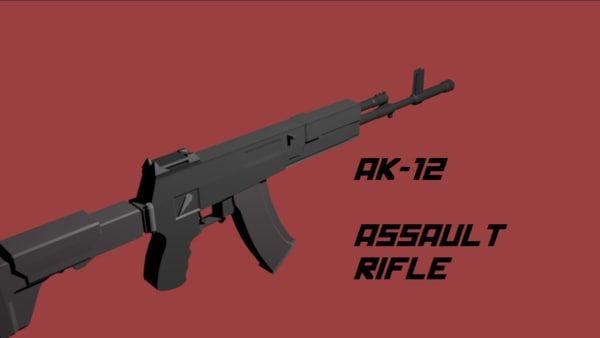 3D Ak 12 Rifle Model - 3D Model
